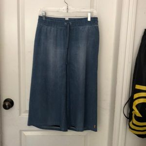 Lucy jean crop flowing pants with pockets